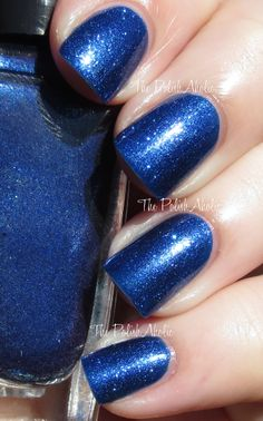 The PolishAholic: Saturday Spam: Sally Hansen Triple Shine - Wavy Blue