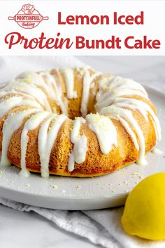 🍋There's 90g of protein in this lemon iced bundt cake! 💪And it has a wonderfully soft cake texture. Perfect for breakfast or an anytime snack. 😋 We used our Proteinfull Baking Classic Yellow Cake Mix and made the icing from confectioners erythritol, lemon zest, and water. Easy, filling, and delicious! 🍋 Click through for details! Cake Calories, Protein Cake, Create A Recipe, Unsweetened Applesauce, Yellow Cake Mixes, Healthy Desserts, Amazing Cakes, Cake Recipes, Lemon