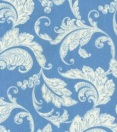 45'' Home Decor Fabric Swavelle Millcreek Prestwick Panorama Cerulean--$6.99/yd on sale