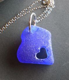 necklace made from lake glass. @Anna Totten Brodersen make me oneeeeeeeee
