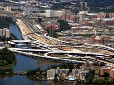 Woodrow Wilson bridge across the Potomac River