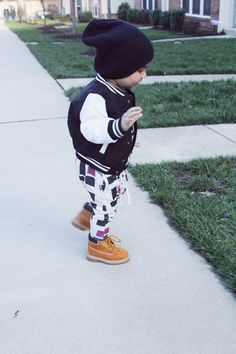 They make joggers for kids??? So cute!! Harem leggings with varsity jacket. Lot801 - Baby Boy Style.