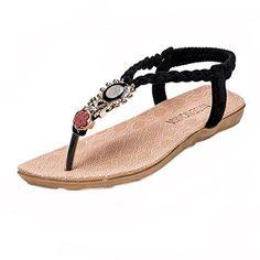 Oferta: 4.23€. Comprar Ofertas de Sandalias Bohemia,Xinantime Zapatos de la playa sandalias con cuentas (35, Negro) barato. ¡Mira las ofertas!