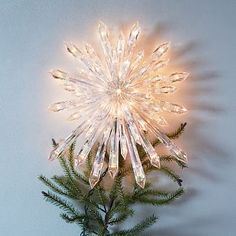 Light-Up Star Tree Topper #westelm