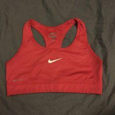 Nike pro sports bra Orange Nike pro sports bra dri fit great condition size small Nike Intimates & Sleepwear Bras