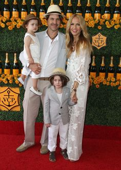 Rachel Zoe and Rodger Berman take their boys Skyler and Kai to the Polo Classic on October 17, 2015