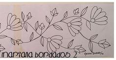 Patrón para bordar!!!Parte 2!!!✏️✏️✏️✏️✏️ #bordado #flores #dibujo #marianabordados #bordardapaz