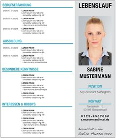 Muster-Vorlage für einen tabellarischen #Lebenslauf Mehr: http://karrierebibel.de/tabellarischer-lebenslauf/
