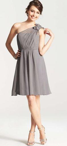 Gorgeous gray bridesmaid dress by Ann Taylor