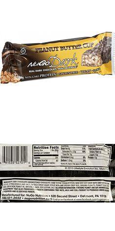 NuGo Nutrition Bar - Dark - Peanut Butter Cup - oz - Case of 12 Coffee Nutrition, Nutrition Bars, Vegan Nutrition, Holistic Nutrition, 100 Calories, Peanut Butter Cups, Protein Bars, Chocolate, Vegan