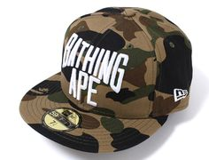 1st Camo 59Fifty Fitted Baseball Cap By BAPE x NEW ERA