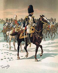 """Officer mounted Grenadier at Eylau"", by Henri Ganier Tanconville."