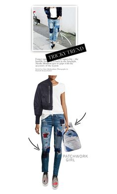 """""""Tricky Trend: Patchwork Denim"""" by cultofsharon ❤ liked on Polyvore featuring Chiara Ferragni, rag & bone/JEAN, 3.1 Phillip Lim and Marc by Marc Jacobs"""