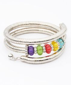 Another great find on #zulily! Magnesite Coil Wrap Bracelet #zulilyfinds