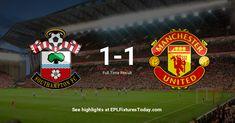 Premier League Fixtures, Southampton, Manchester United, The Unit, Man United