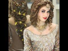 Kashees wunderschöner Braut-Make-up-Schönheitssalon Kashees Hairstyle, Bride Hairstyles, Cool Hairstyles, Pakistani Bridal Makeup, Pakistani Bridal Dresses, Indian Bridal, Pakistani Engagement Hairstyles, Muslim Women Fashion, Braut Make-up