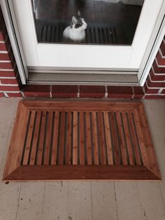 Door Mat Using Left Over Bamboo Flooring