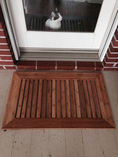 Door Mat Using Left Over Bamboo Flooring Front Mats Wood Doors