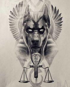 Lord Of The Rings Tattoo, Egypt Tattoo, Anubis Tattoo, Ring Tattoos, Big Cats, Tattos, Egyptian, Batman, Sketches