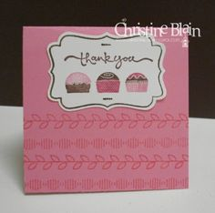 """HAPPY HEART CARDS: STAMPIN' UP!'S """"EAT CHOCOLATE"""" THANK YOU NOTE CARD"""