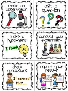 the scientific process, kindergarten | am giving you the scientific method cards included in the set for ...