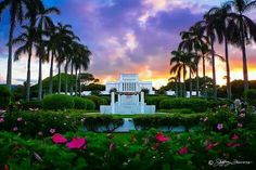 Laie Hawaii Temple. The Church of Jesus Christ of Latter-day Saints (LDS, Mormon). 005. Dedicated November 27, 1919.  Rededicated June 13, 1978.  Rededicated November 21, 2010.