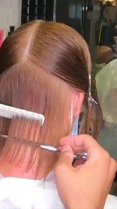 Hair Cutting Videos, Hair Cutting Techniques, Cutting Hair, Square Face Hairstyles, Mom Hairstyles, Hairdos, Short Layered Haircuts, Short Hair Cuts, Short Hair Styles