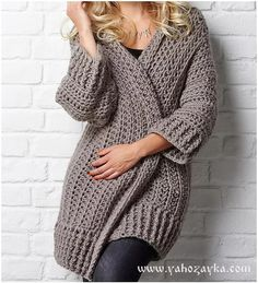 Ravelry: The Big Chill cardigan pattern by Simone Francis - Crochet Crochet Cocoon, Crochet Coat, Crochet Cardigan Pattern, Crochet Jacket, Crochet Shawl, Crochet Clothes, Crochet Patterns, Free Crochet, Chunky Crochet