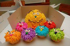 cute monster cupcake