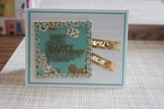 Stampin' Up! Card Class Project Birthday Card with Confetti.