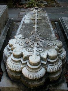 Cementerio en Charleston, Carolina del Sur.