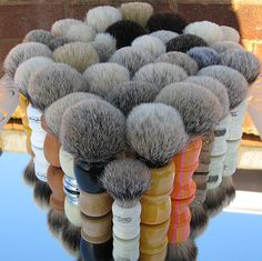 Collection of shaving brushes