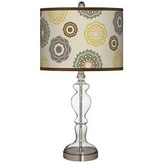 Ornaments Linen Giclee Apothecary Clear Glass Table Lamp