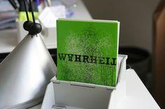 Ursprünglich waren unsere Typoplakate eine Postkartenserie.