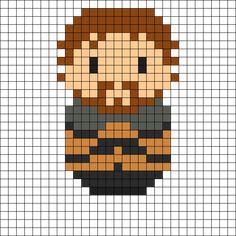 Robb Stark - Game of Thrones Perler Bead Pattern