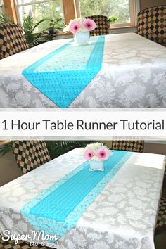 Table runners are easy beginner sewing projects. This One Hour Table Tutorial will show you how to create two beautiful table runners. one the reverse of the other. Complete step-by-step instructions with lots of detailed photos. Easy Sewing Projects, Sewing Projects For Beginners, Sewing Hacks, Sewing Ideas, Sewing Tips, Sewing Crafts, Sewing Tutorials, Diy Projects, Sewing Patterns Free