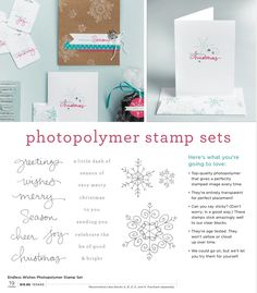 Stampin Up Endless Wishes Photopolymer Stamp Set