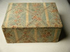 Zho Zho's Textile Adventures: The contents of a fabric covered box in the Brain Watkins House