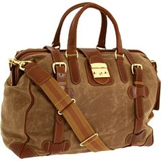 Mulholland Brothers - Safari Weekend Bag (tan Waxed Canvas) - Bags And Luggage Saddle Leather, Leather Handle, Tan Leather, Waxed Canvas Bag, Canvas Bags, Hats For Men, Backpack Bags, Travel Bags, Bag Making