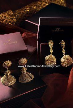 Tanishq Jhumka Earrings