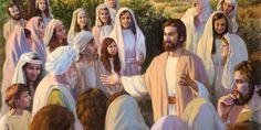 Jesus ensinando pessoas a amar a Jeová Deus