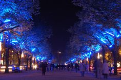 The world-famous avenue in Berlin-Mitte, Unter den Linden, during the Festival Of Lights. Twin Girl Bedrooms, Weekend Deals, Festival Lights, Lighting Design, Light Colors, Beautiful Places, Germany, Romantic, Architecture