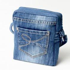 Sac à bandoulière en jeans de récup