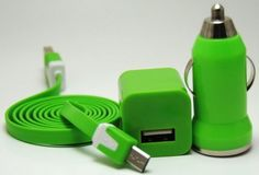 nice Able 3 in 1 Black 3ft Tangle Free Flat Noodle Micro USB Charging Kit fits Android Samsung Galaxy S3 Siii S4 S 4 active Galaxy Tab Reverb Note 2 Pantech HTC One LG Optimus Motorola HD Kindle (Green)