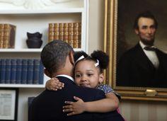 President Obama looks like he gives great hugs. So adorable!