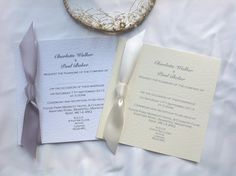 Square Flat Wedding Invitations with Ribbon. Shop online at www.daisychaininvites.co.uk