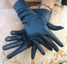 Classic black leather gloves fall fashion 2013