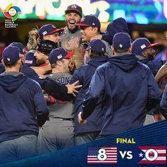 "⚾️  WorldBaseballClassic (@wbcbaseball) on Instagram: ""Team USA claims first Classic, toppling unbeaten Puerto Rico, 8-0, to win #WBC2017."""