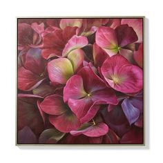 Burgundy Hydrangea Oil On Canvas - Frontgate Canvas Wood Frame, Watercolor Paintings Abstract, Flower Paintings, Fall Color Palette, Botanical Wall Art, 5d Diamond Painting, Painting Inspiration, Wall Prints, Hydrangea
