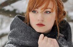 women, Redhead, Alina Kovalenko, Braids, Looking Away, Women Outdoors, Snow  Wallpapers HD / Desktop and Mobile Backgrounds